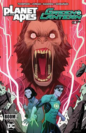 Planet Of Apes Green Lantern #4 Main Cover